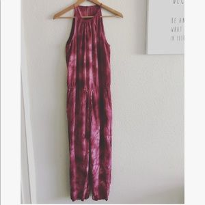 Anthro Cloth & Stone cropped jumpsuit sz: XS